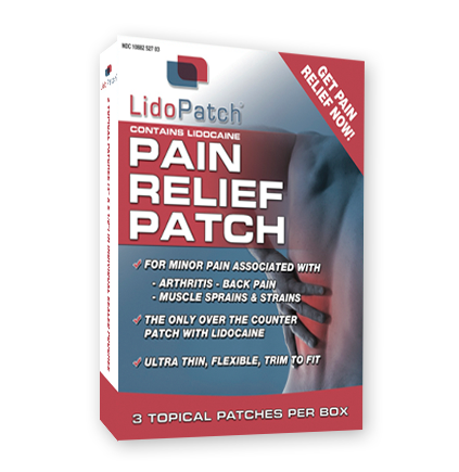 Free 3-patch box of LidoPatch with Trial Subscription